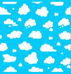 abstract clouds signs seamless pattern background vector image