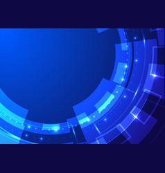 Abstract technology concept blue wheel geometric vector
