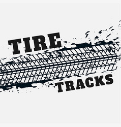Abstract tire tracks print marks in grunge style vector