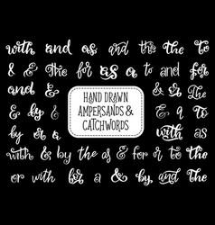 ampersand or catchword lettering vintage font vector image