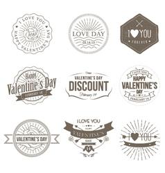 Badges Valentine Vintage vector