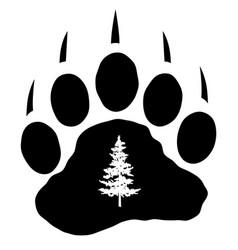 bear paw vector image
