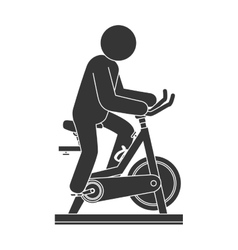 Bike gym exercise training vector
