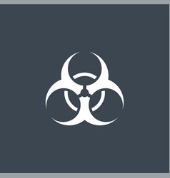 biological hazard related glyph icon vector image