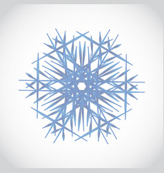 blue crystal snowflake logo winter gradient icon vector image