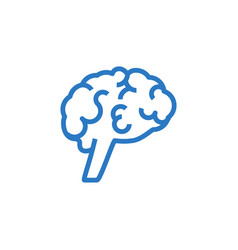 brain related glyph icon vector image