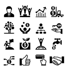 Business success icon vector