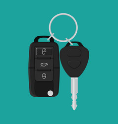 Car key and of the alarm system vector