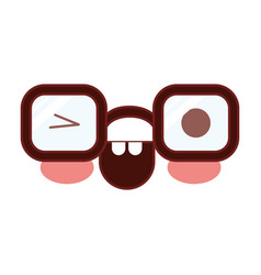 caricature glasses with eye wink expression in vector image
