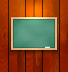 chalkboard on wood background vector image