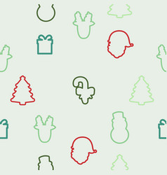 christmas element icons pattern vector image