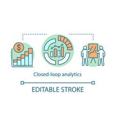 Closed-loop analytics concept icon vector