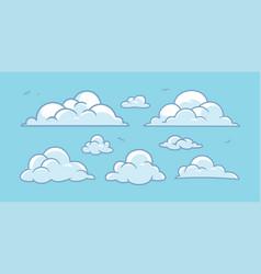 Cloud cartoon set collection vector