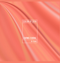 Coral color of the year 2019 abstract background vector