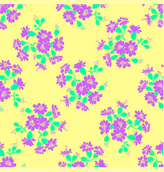 cornflower drawing floral seamless pattern vector image