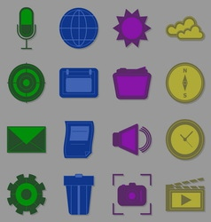 Create function icons for internet vector