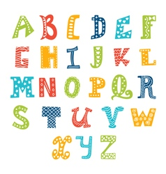 Cute alphabet isolated on white background Letters vector