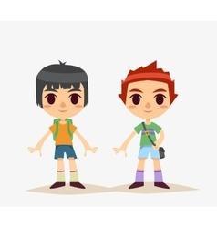 Cute Cartoon kids isolated Boy vector