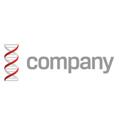 Dna strand logo vector