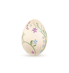 easter egg 3d icon pastel egg isolated white vector image