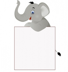 elephant and banner vector image vector image