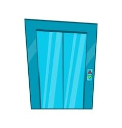 Elevator with closed door icon cartoon style vector