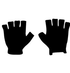 Fingerless gloves vector image