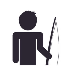 fisherman pictogram symbol vector image