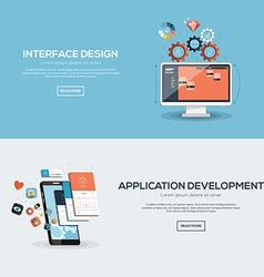 Flat design concept 2 vector image