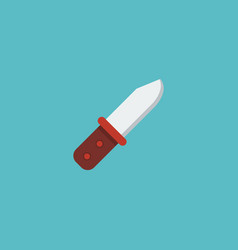 Flat icon infantry knife element vector