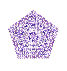 Geometrical isolated ornate abstract colorful vector