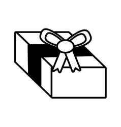 gift box surprise ornament outline vector image
