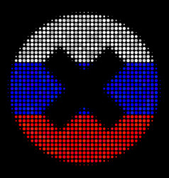 Halftone russian cancel icon vector