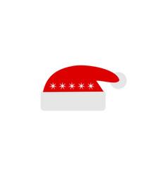 Hat christmas atribute logo vector