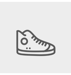 High cut rubber shoes thin line icon vector image