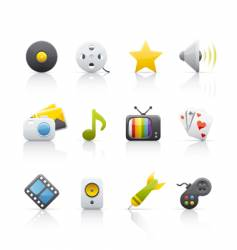 Icon set entertainment vector
