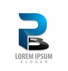 initial letter pb logo concept design symbol vector image