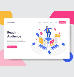 landing page template of reach social media vector image