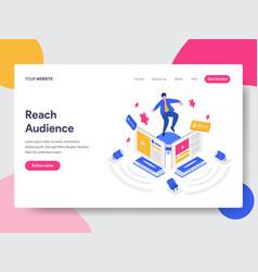 landing page template reach social media vector image