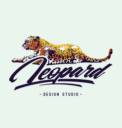 Leopard design vector