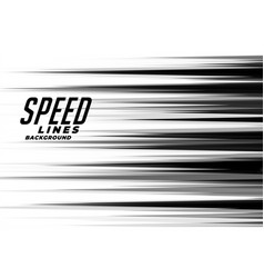 linear speed lines in black and white comic style vector image