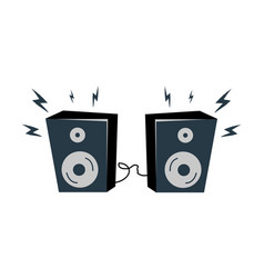 loudspeakers with bolts set vector image