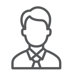 manager line icon office and work vector image