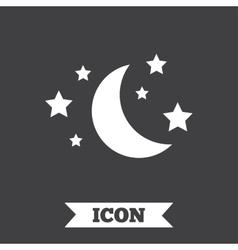 Moon and stars sign icon Sleep dreams symbol vector