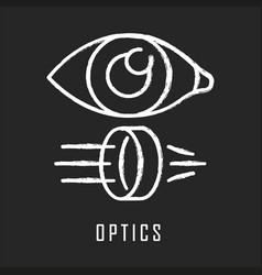 Optics chalk icon light physics branch optometry vector