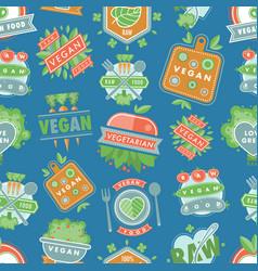 organic vegan healthy food eco restaurant vector image vector image