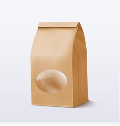 paper bag with a round transparent window vector image