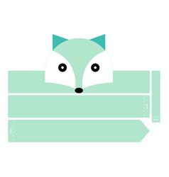 Polar fox headband vector