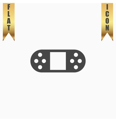 Portable Video Game Console Isolated vector image