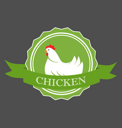 premium chicken logo labels badges and design vector image